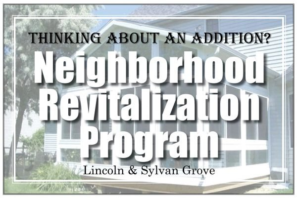 Neighborhood Revitalization Program in Lincoln and Sylvan Grove, Kansas