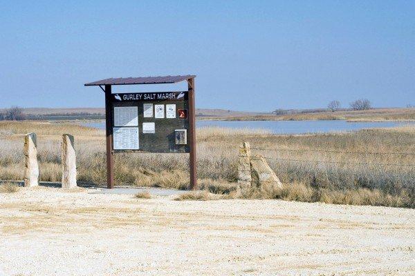 Gurley Salt Marsh north of Lincoln, Kansas on Highway 14