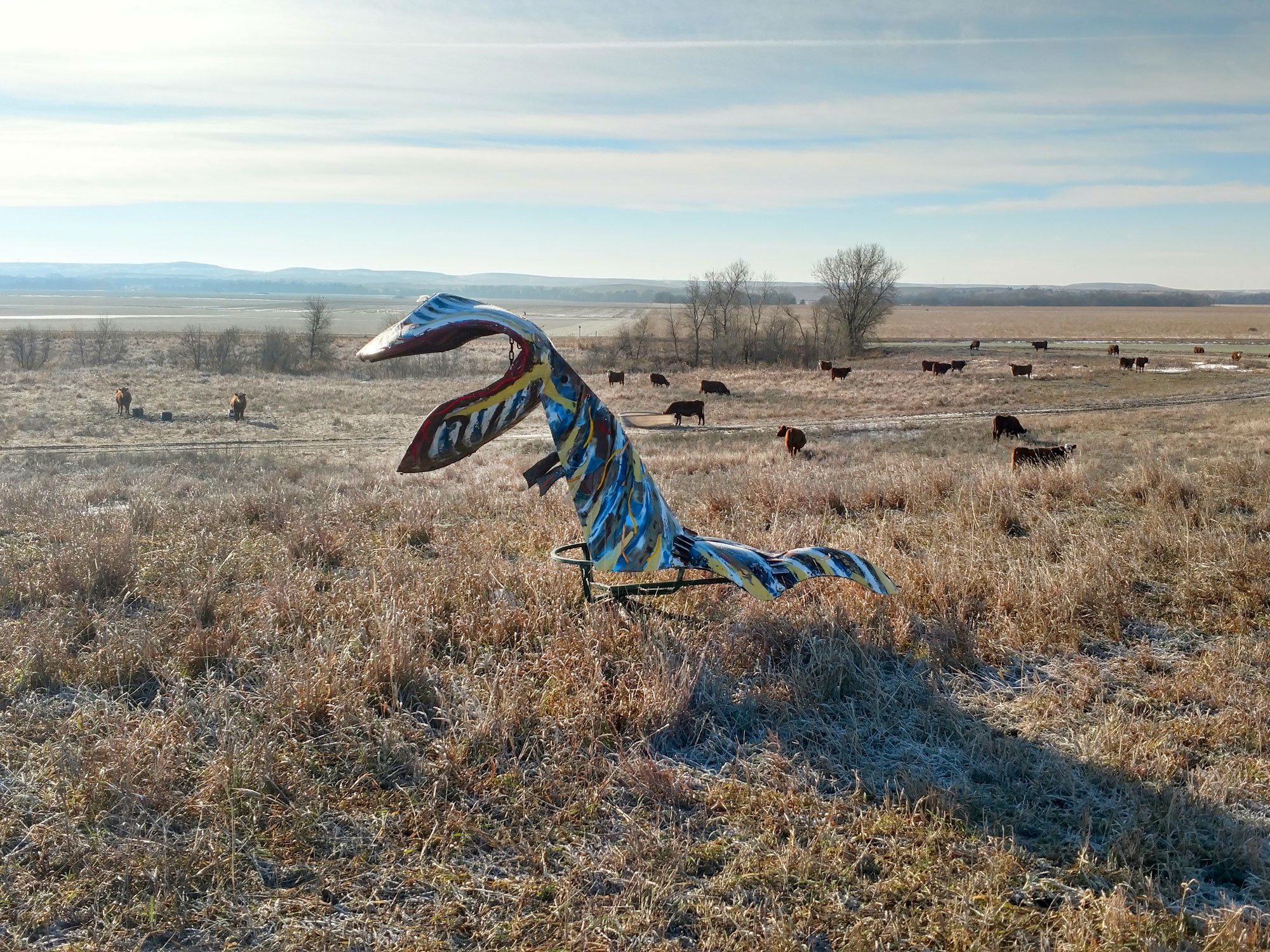 Super Bug, one of the creations in the Open Range Zoo along Highway 18, between Lincoln and Sylvan Grove, Kansas (Photo by Kris Heinze)