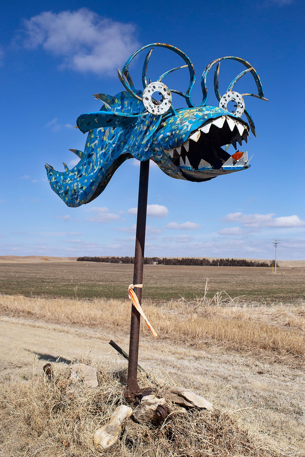 Land Shark, one of the creations along the Open Range Zoo near Lincoln, Kansas (Photo by Kris Heinze)