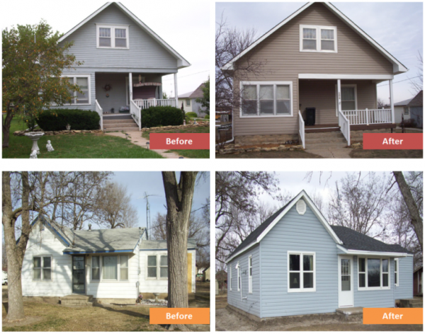 Example housing rehabilitation and weatherization projects by the NCRPC.