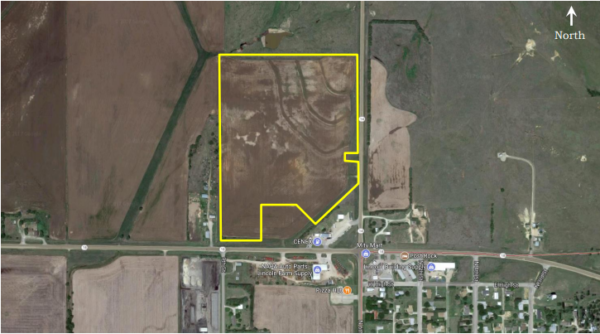 40-acre commercial lot in Lincoln, KS.
