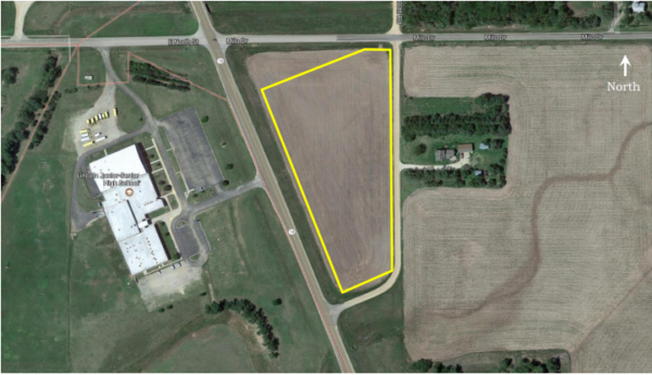 5.7 acre commercial lot available in Lincoln, KS.