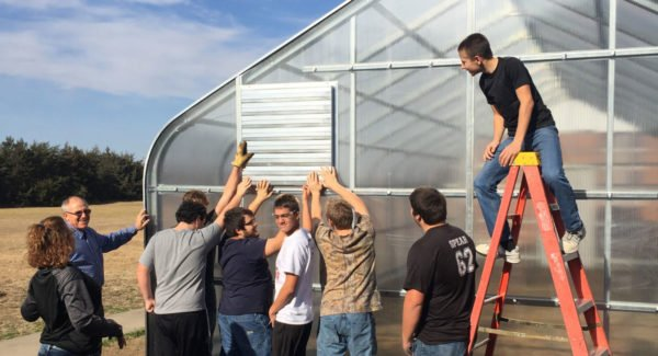 Post Rock Community Foundation supports and facilitates various community and school projects like this Greenhouse Project at USD 299.
