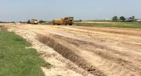 Dirt work being completed at Lincoln Municipal Airport