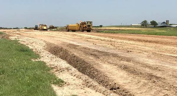 Lincoln Municipal Airport runway dirt work underway