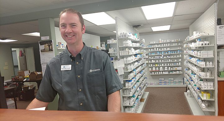 New pharmacist David King is getting settled in at the Patterson Health Mart in Lincoln, KS.