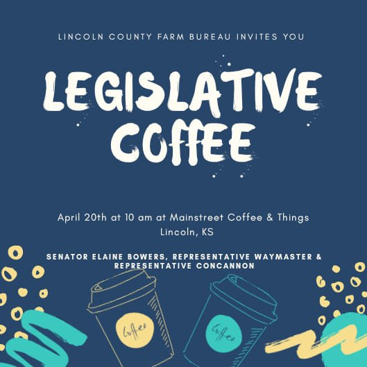Legislative Coffee in Lincoln Saturday April 20, 2019 at Main Street Coffee & Things
