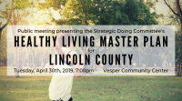 "Countywide ""Healthy Living Master Plan"" created by Strategic Doing committee"