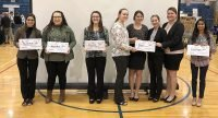 Lincoln County 2019 Youth Entrepreneurship Challenge winners. Lincoln High School students Libby Huskey and Cassie Aleshire received first place. Sylvan-Lucas Unified High School student Aundrea Haberer took home second, while runners up included Delaney Herold, Taegen Walter, Bailey Evans and Kylie Rahmeier of SLUHS, and LHS student Aubry Donley.