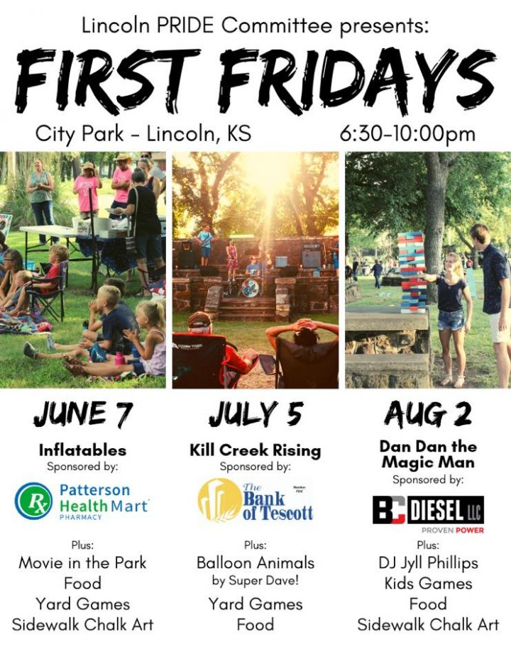 First Fridays in Lincoln City Park, Lincoln, Kansas