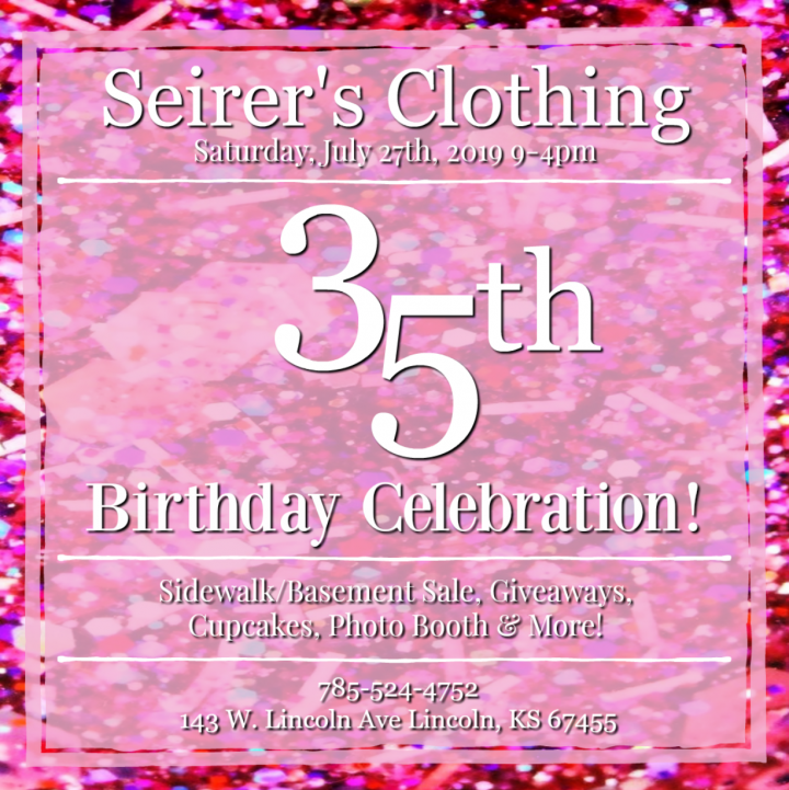 Seirer's Clothing 35th Birthday Celebration