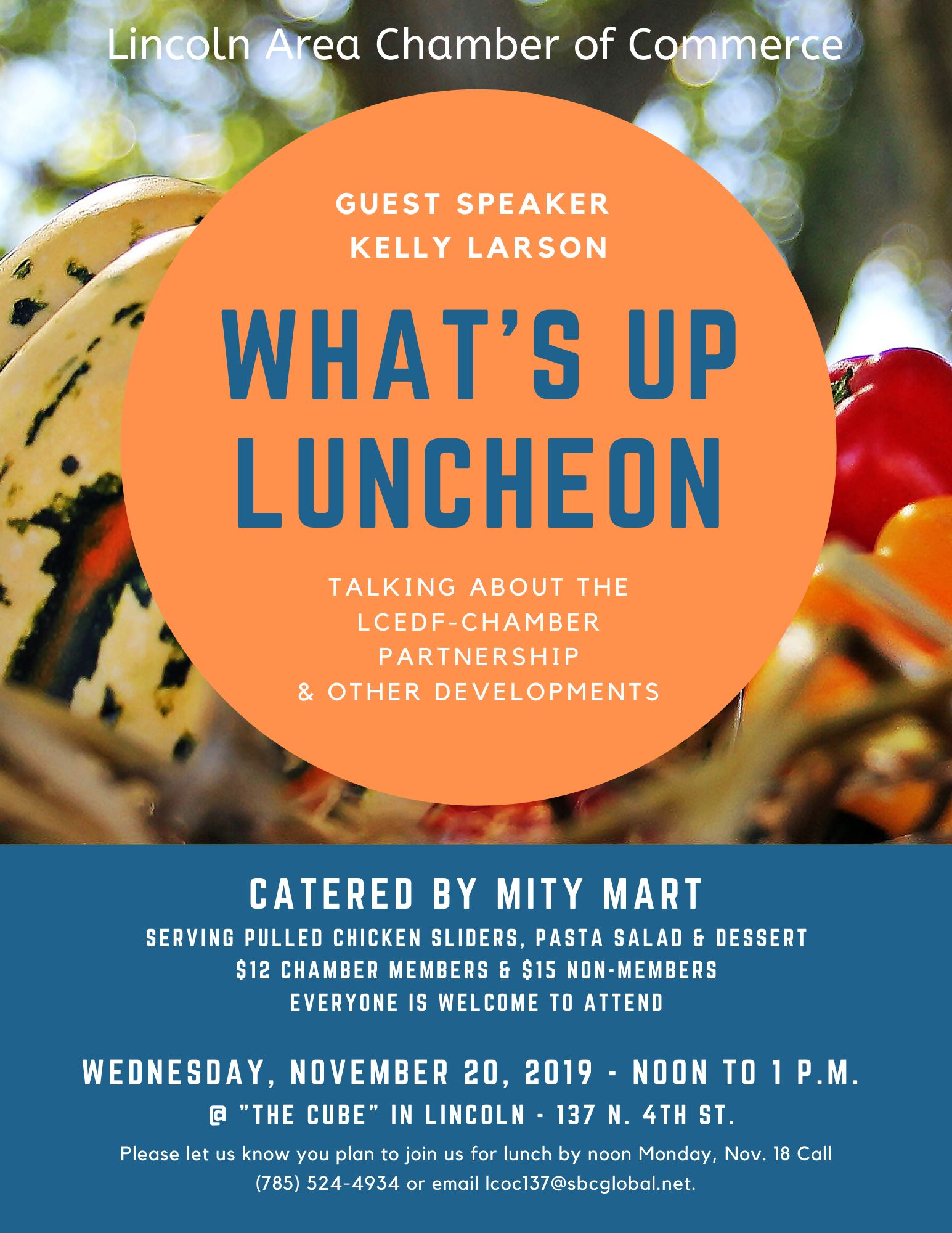 Lincoln Chamber What's Up Luncheon invitation