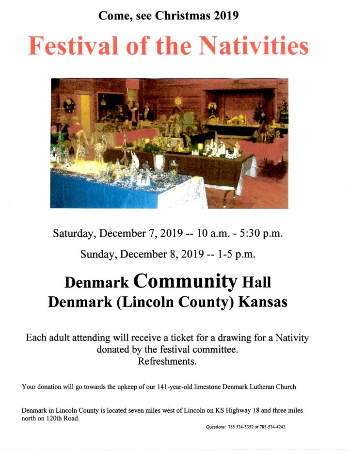 Festival of the Nativities Denmark, KS December 7-8, 2019