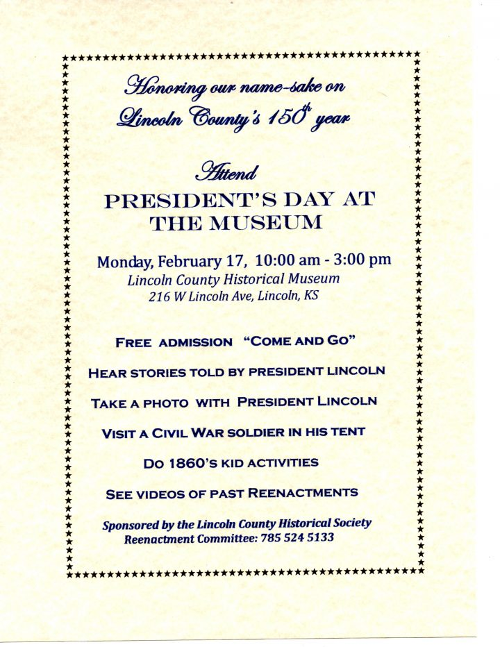 Presidents' Day Open House @ Lincoln County History Museum