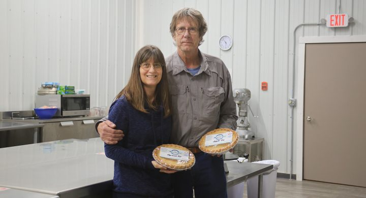 Mary Ann and Craig Stertz renovated a building in downtown Lincoln to house the famous MarCon pies previously in Washington, KS.