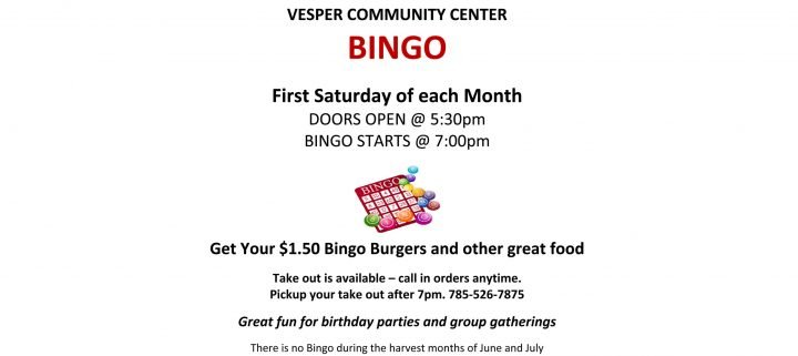 Saturday Night Bingo - CANCELLED @ Vesper Community Center