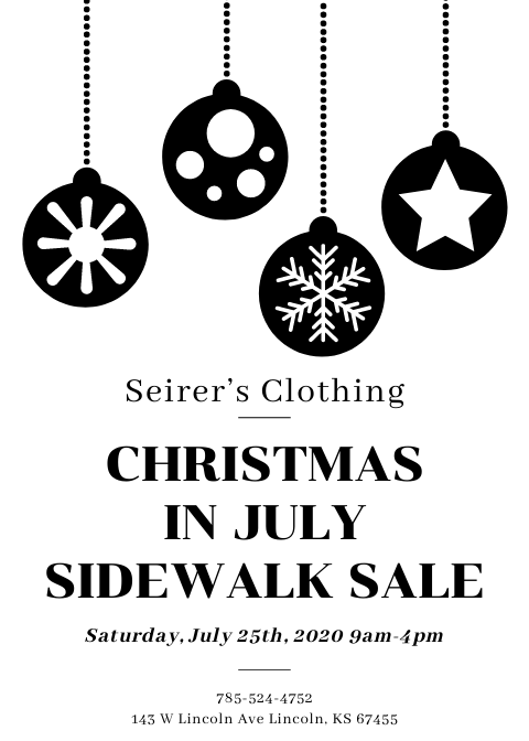 Christmas in July @ Seirer's Clothing