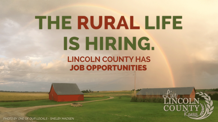 The rural life is hiring! See job opportunities in Lincoln County, Kansas.