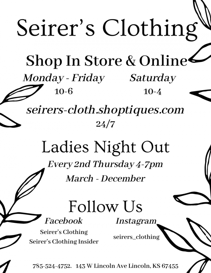 Ladies Night Out @ Seirer's Clothing