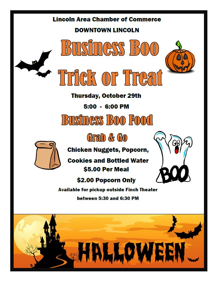 Business Boo & Boo Food @ Downtown Lincoln