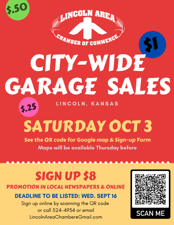 Fall City Wide Garage Sales @ Lincoln (various locations)
