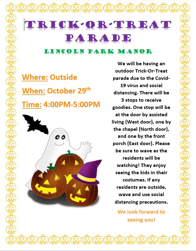 Trick or Treat Parade @ Lincoln Park Manor