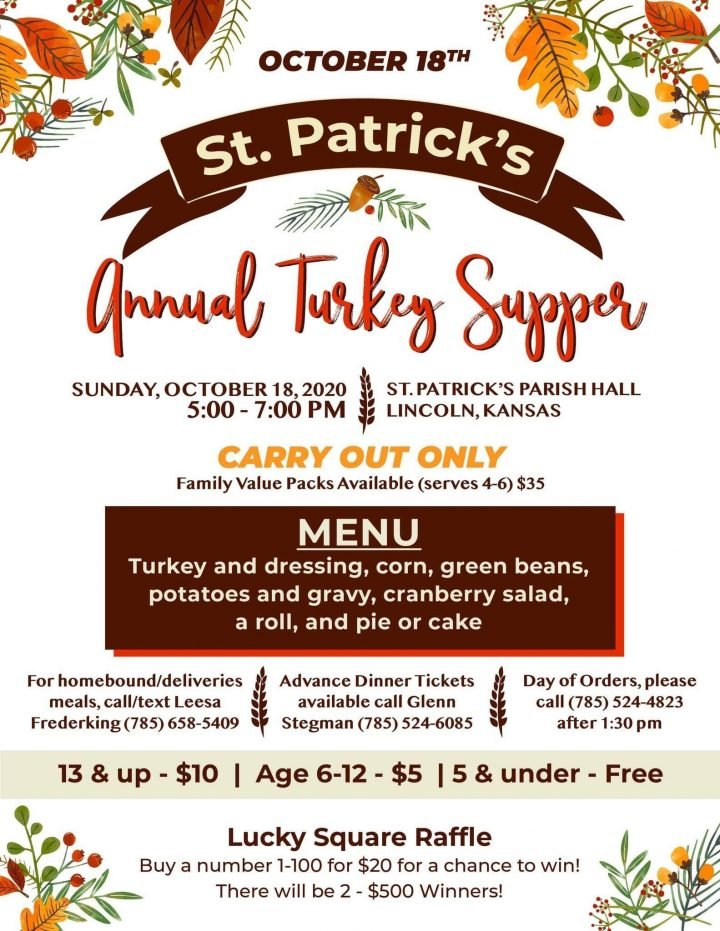 St. Patrick's Annual Turkey Supper @ St. Patrick's Parish Hall
