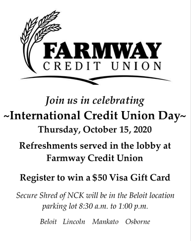 International Credit Union Day @ Farmway Credit Union, Lincoln Branch