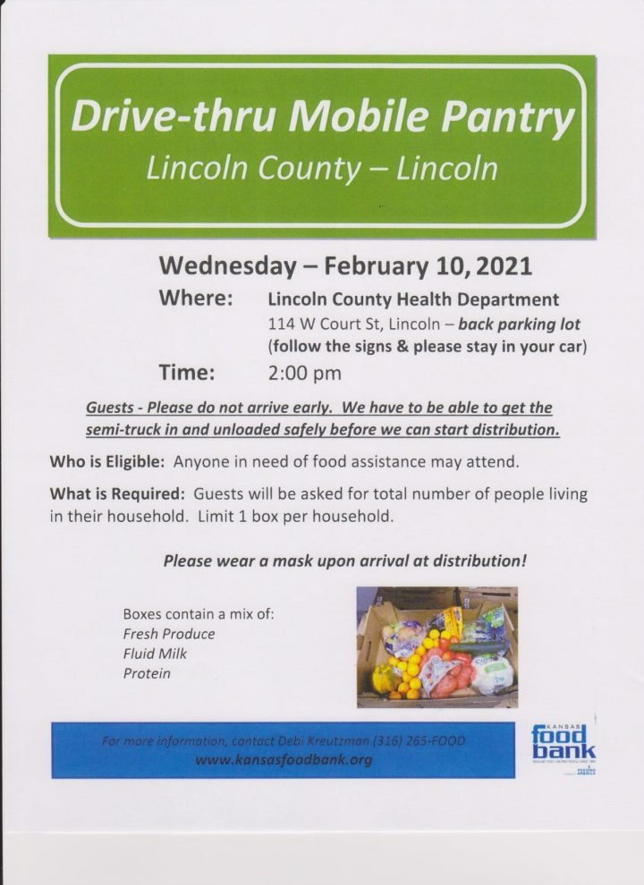 Mobile Food Pantry @ Lincoln County Health Department
