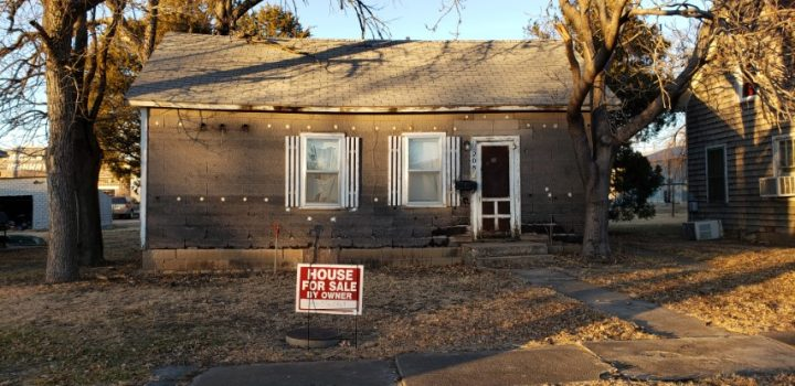 For Sale By Owner - 208 E Lost Street, Lincoln, KS - Being sold jointly with adjacent property at 212 E Lost Street - $18,000 (for both properties)