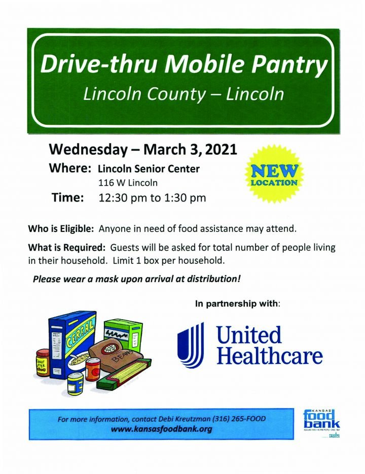 Drive-Thru Mobile Pantry distribution @ Lincoln Senior Center