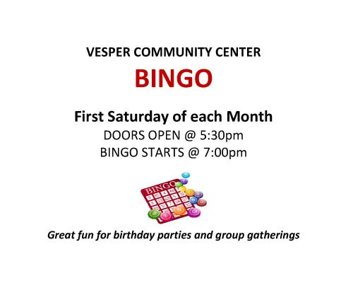 Bingo @ Vesper Community Center