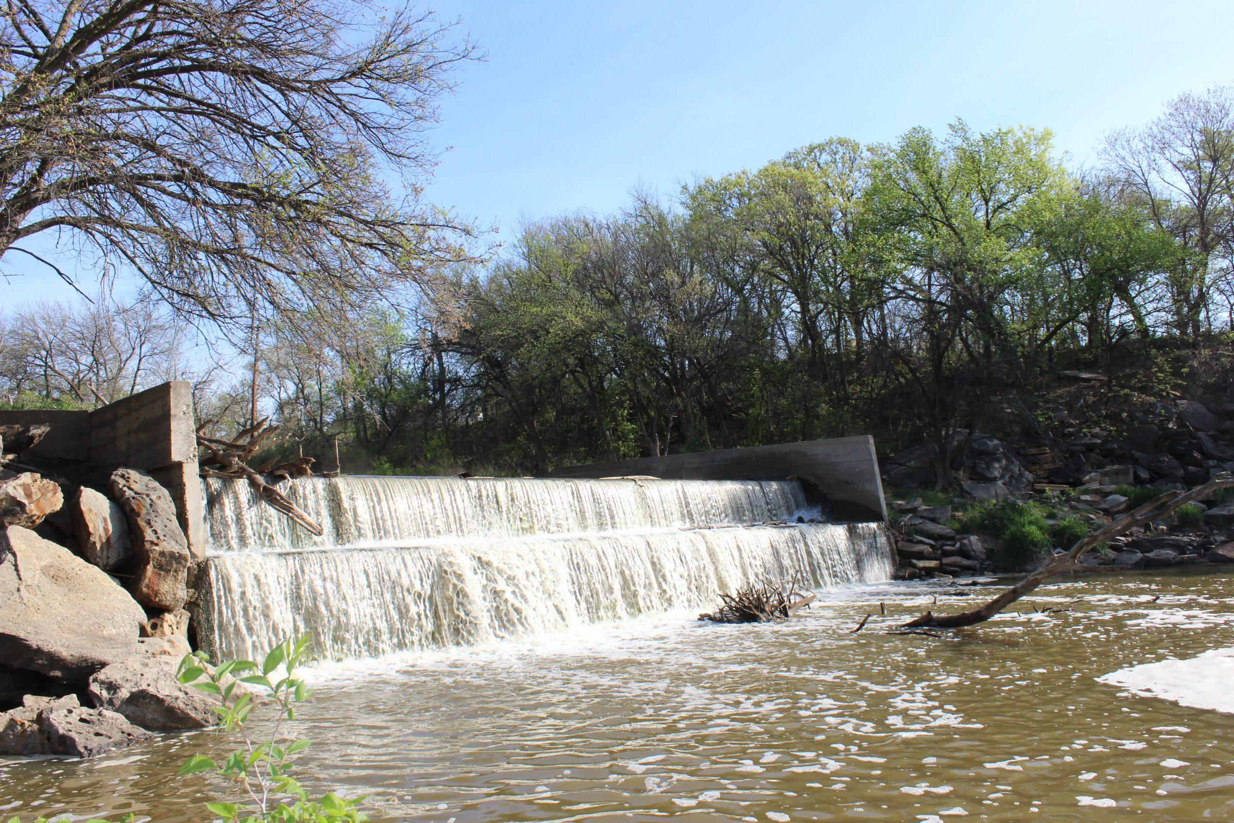 Saline River Dam at Lincoln, KS