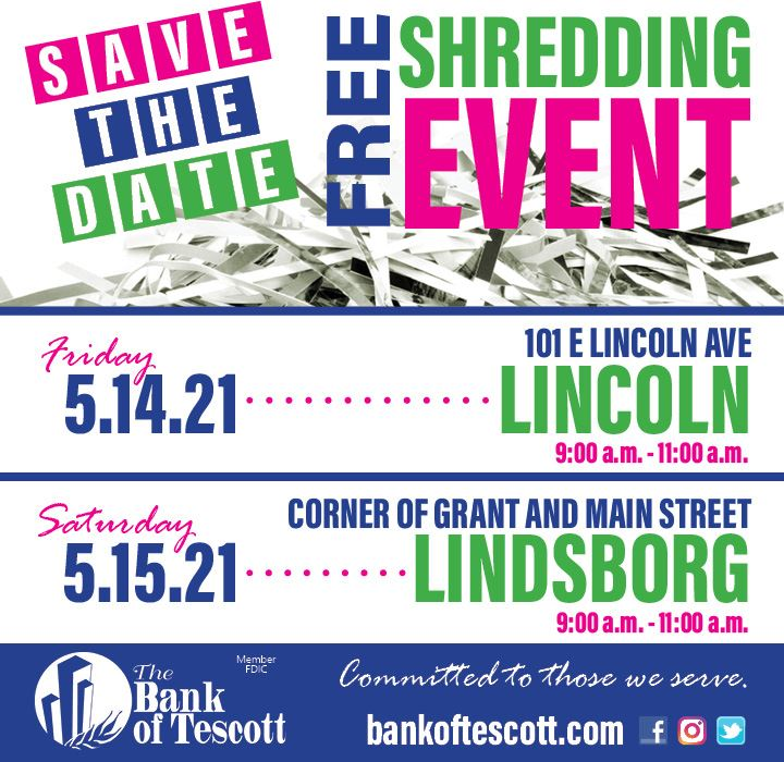 Shredding Event @ Bank of Tescott