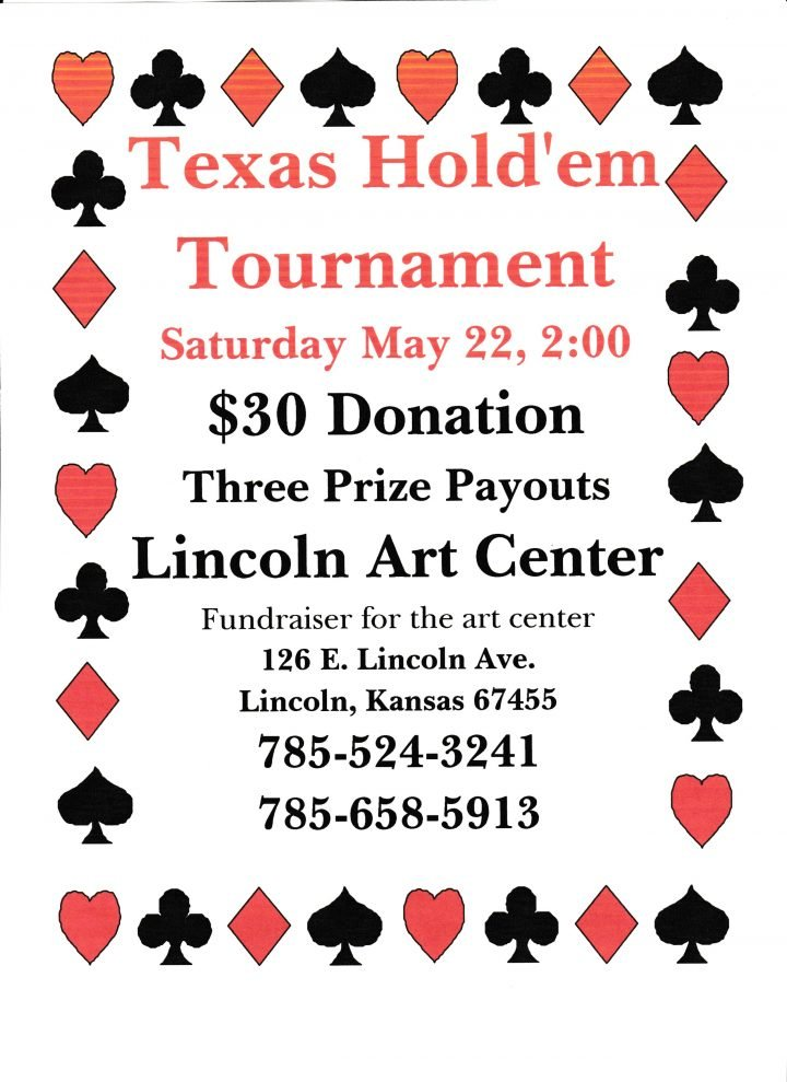 Texas Hold'em Tournament Fundraiser @ Lincoln Art Center