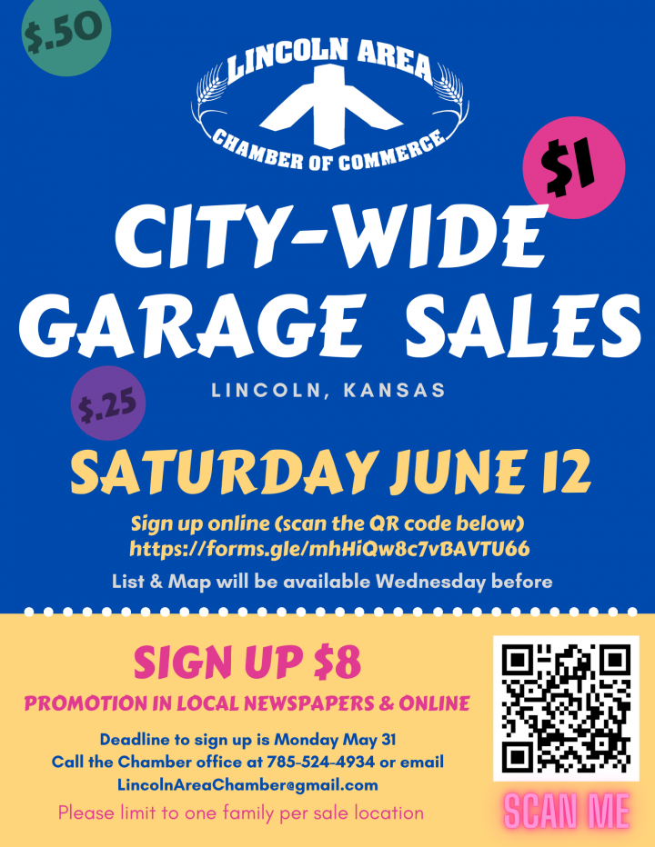 Lincoln City-Wide Garage Sales @ City of Lincoln (various locations)