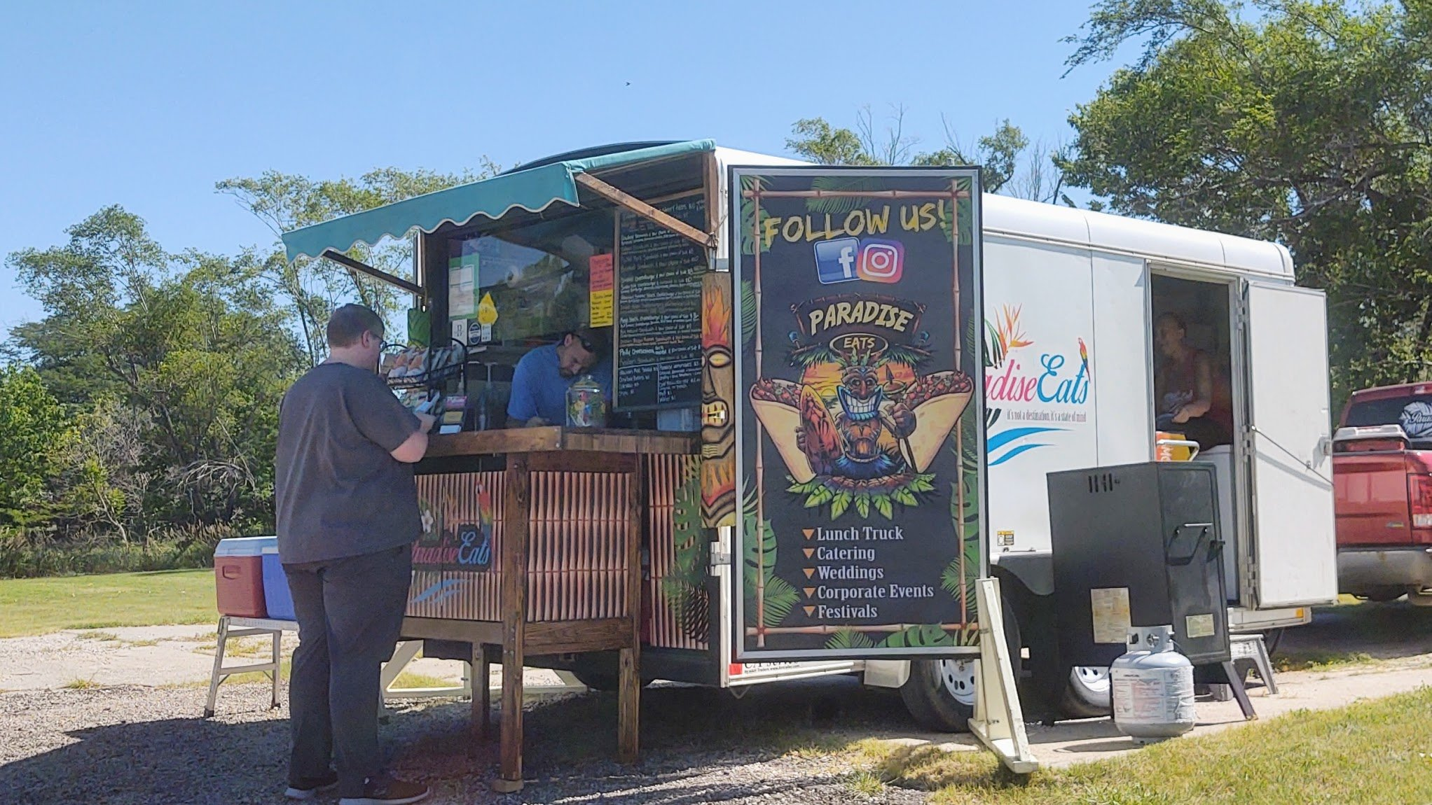Paradise Eats Lunch Truck visiting Lincoln, KS