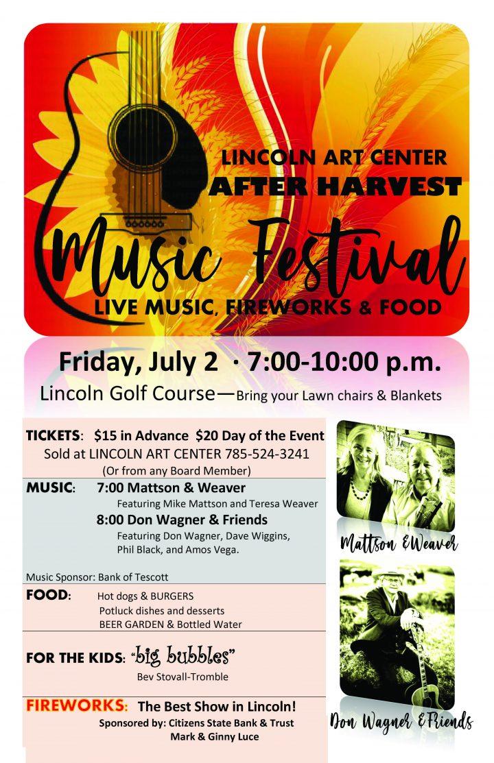 Lincoln Art Center After Harvest Music Festival July 2, 2021 Lincoln, KS