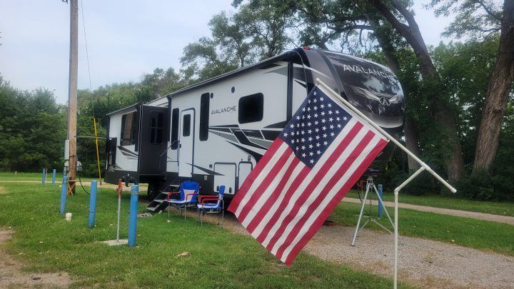Lincoln, Kansas RV Park has six slots with full hookups, next door to the City Park