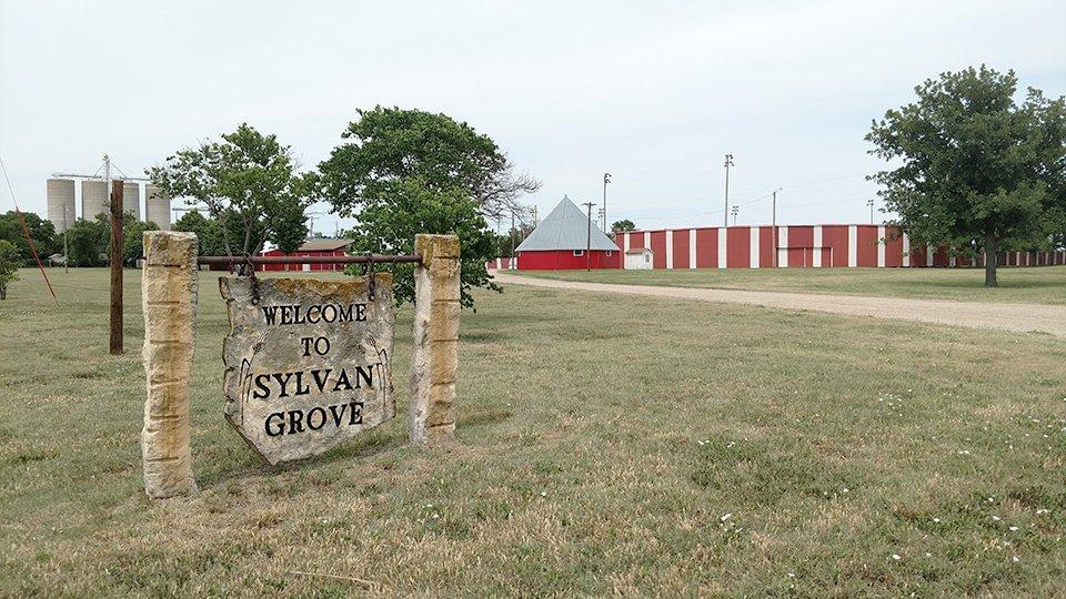 Sylvan Grove, Kansas Fairgrounds entrance and RV Parking