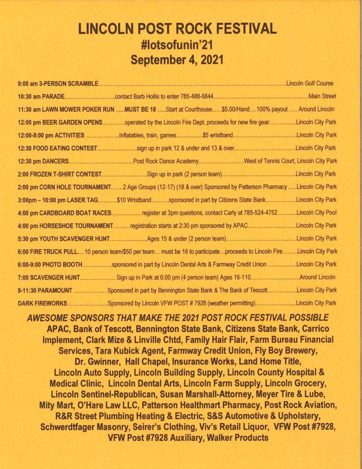 Post Rock Festival Schedule 2021