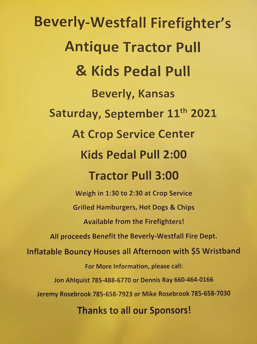 Beverly-Westfall Firefighter's Antique Tractor Pull & Kids Pedal Pull