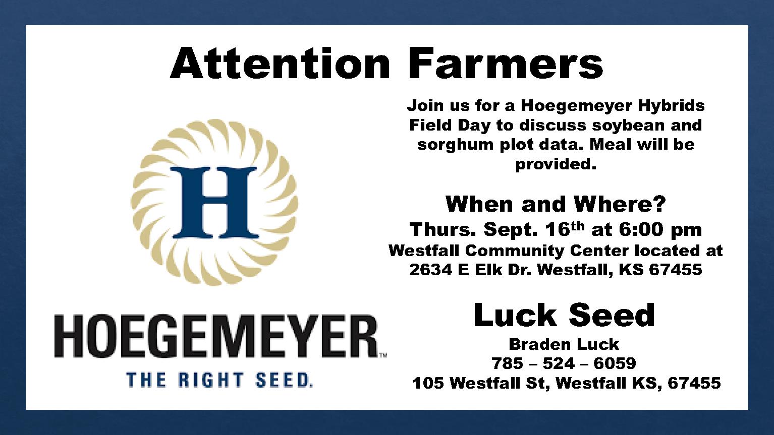 Hoegemeyer Field Day