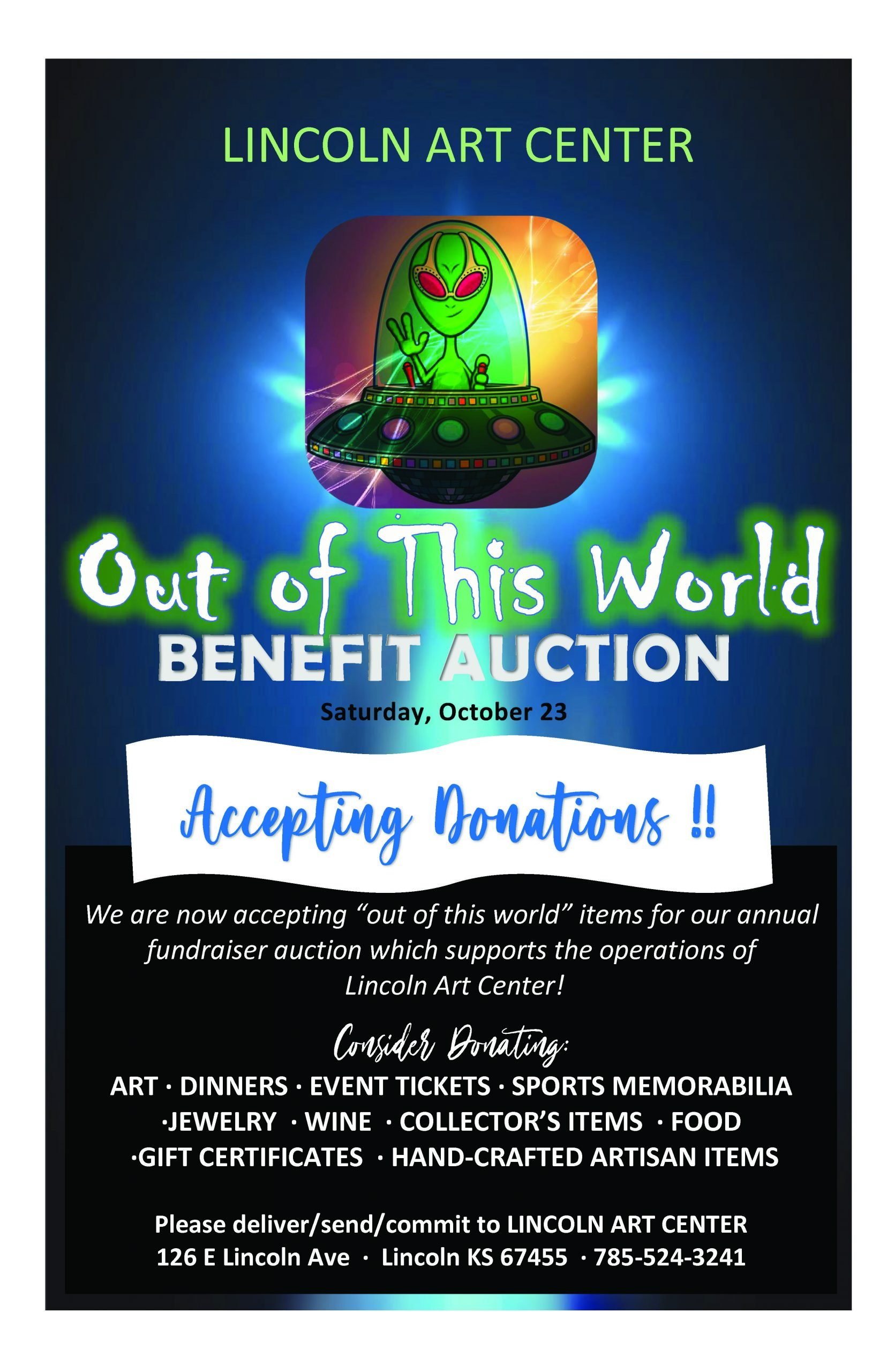 """""""Out of This World"""" Annual Benefit Auction"""