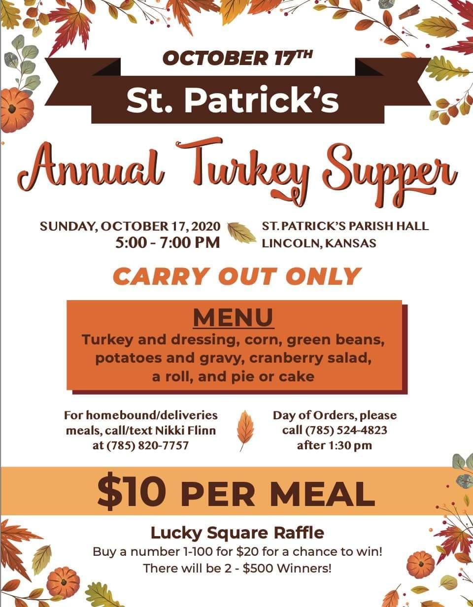 St. Patrick's Annual Turkey Supper